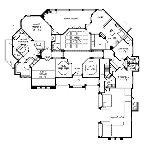 First Floor Plan image of Featured House Plan: BHG - 4952