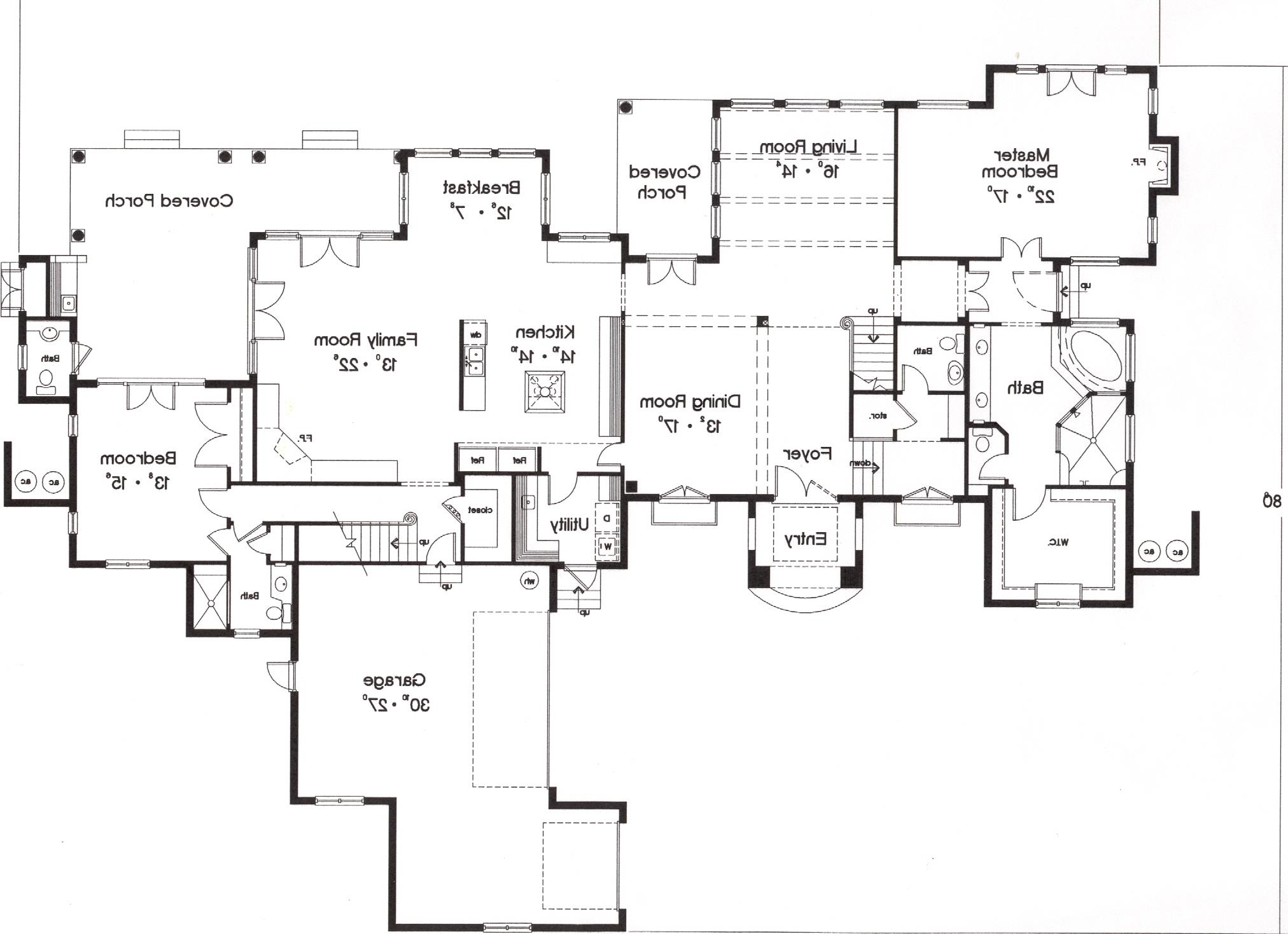 First Floor Plan image of Featured House Plan: BHG - 5246
