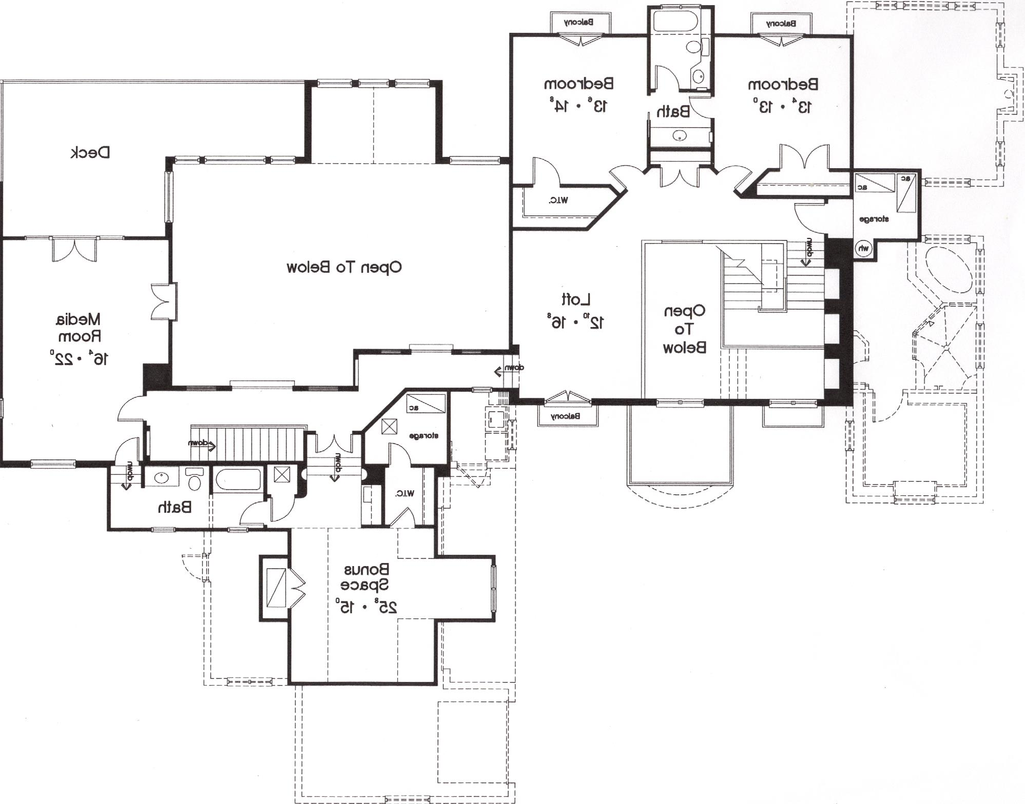 Second Floor Plan image of Featured House Plan: BHG - 5246