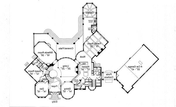 First Floor Plan image of Featured House Plan: BHG - 4924
