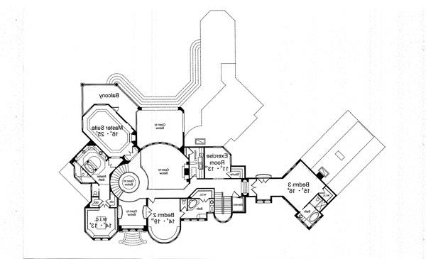 Second Floor Plan image of Featured House Plan: BHG - 4924