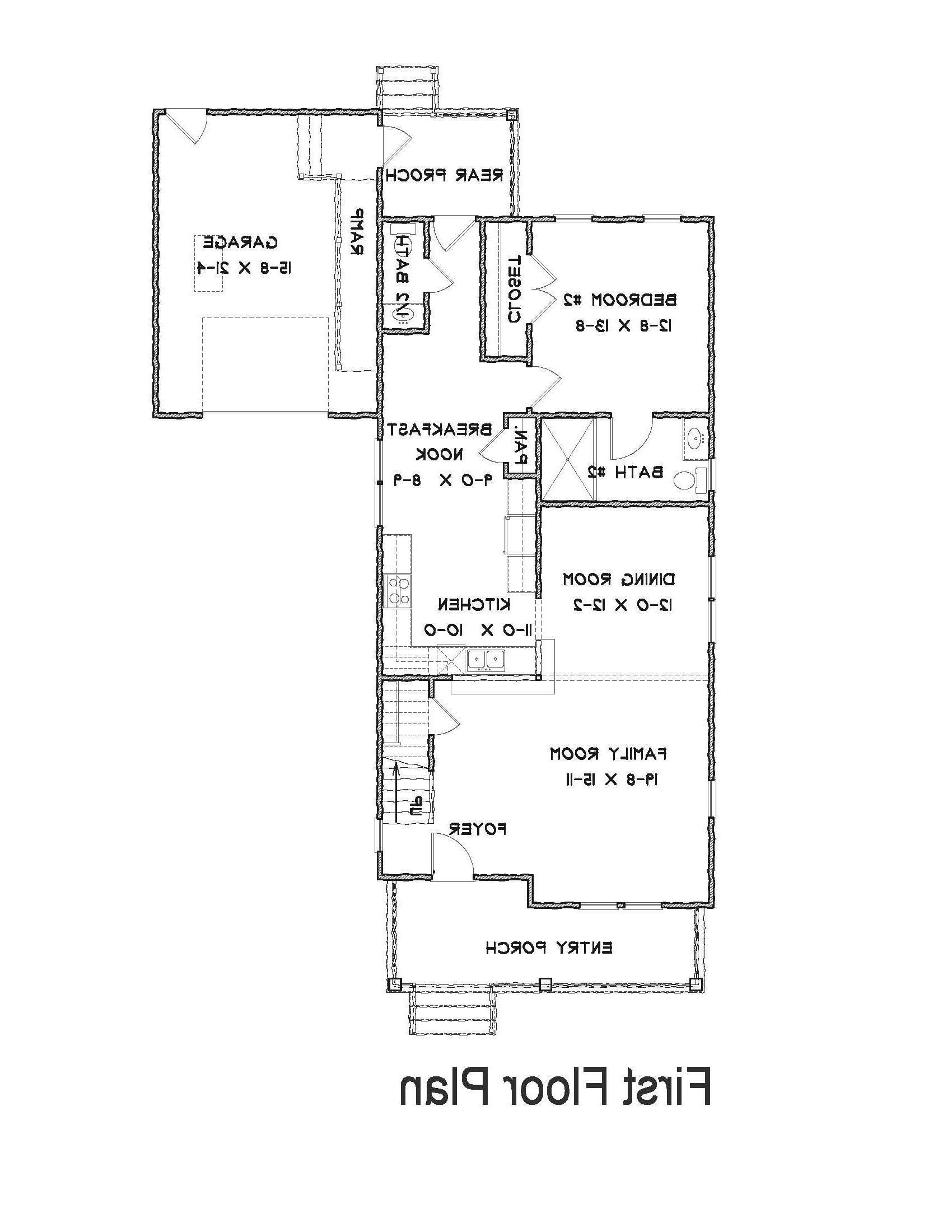 1st Floor Plan image of Featured House Plan: BHG - 1624