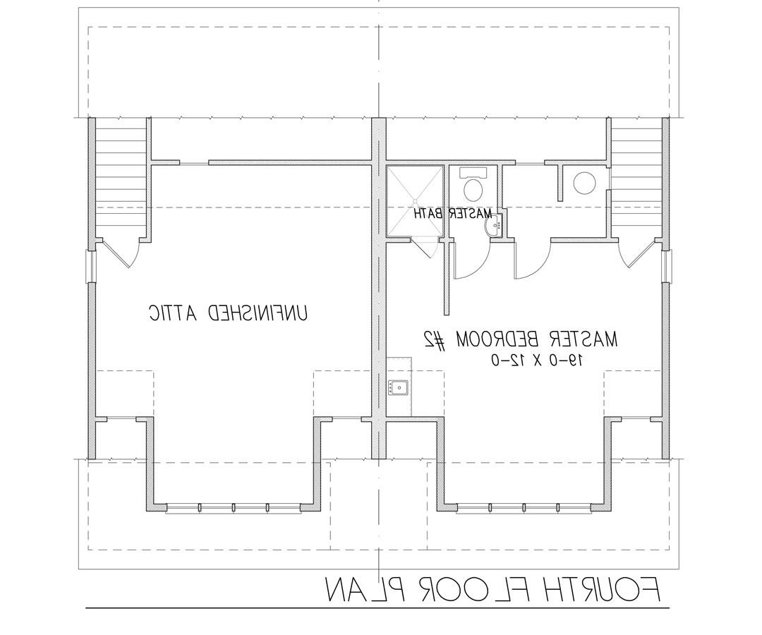 4th Floor Plan image of Featured House Plan: BHG - 9171