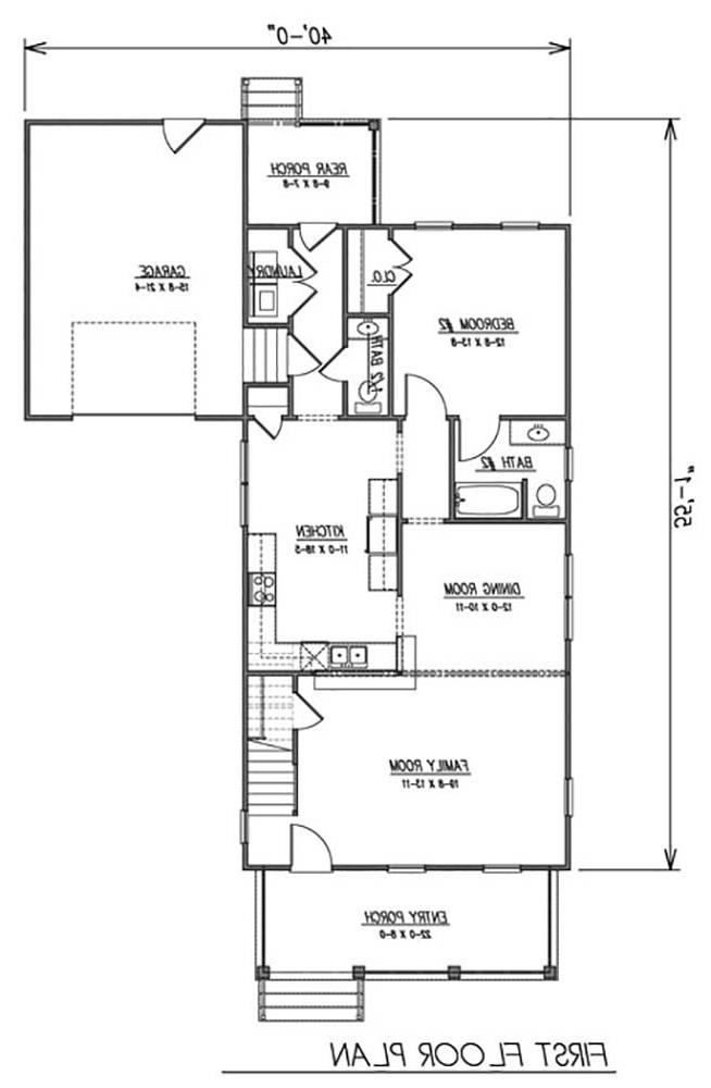 1st Floor Plan image of Featured House Plan: BHG - 1625