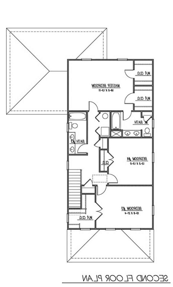 2nd Floor Plan image of Featured House Plan: BHG - 1625