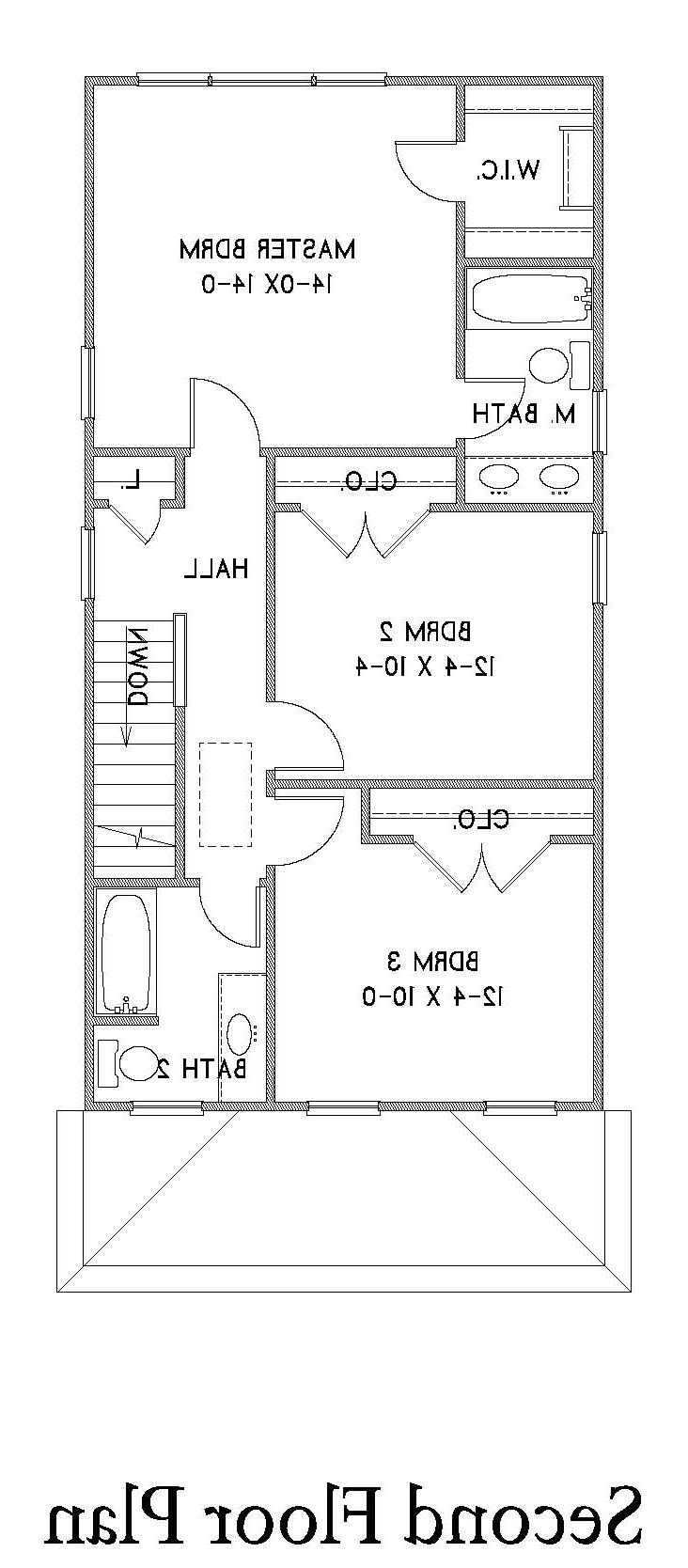 2nd Floor Plan image of Featured House Plan: BHG - 1624