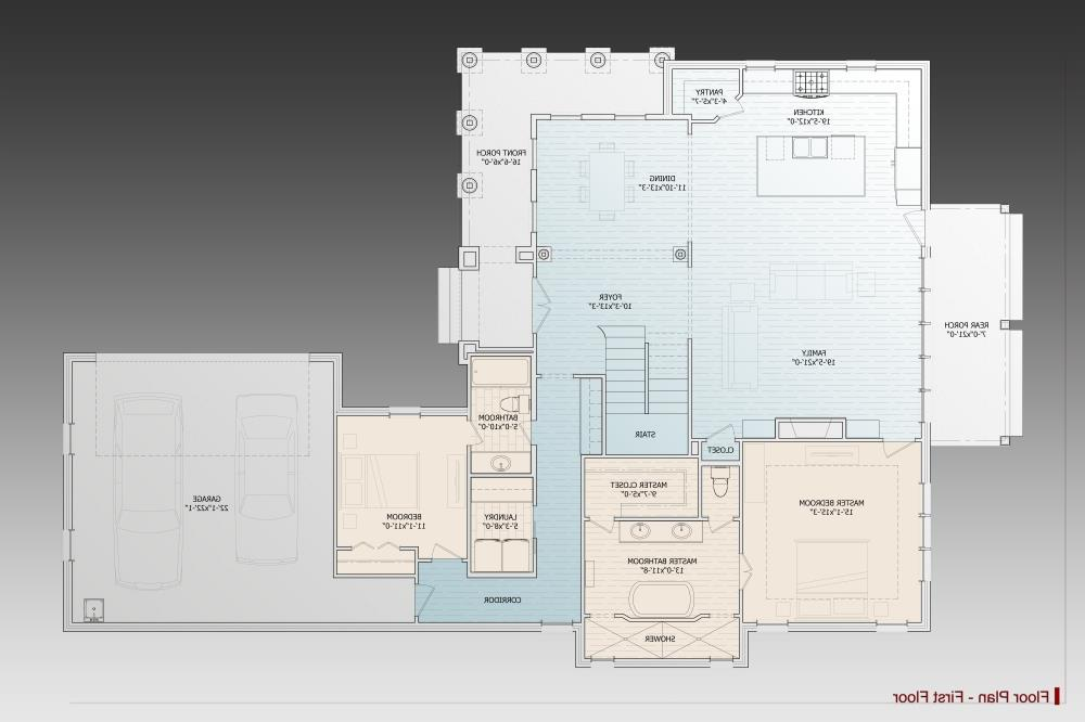 1st Floor Plan image of Featured House Plan: BHG - 9628