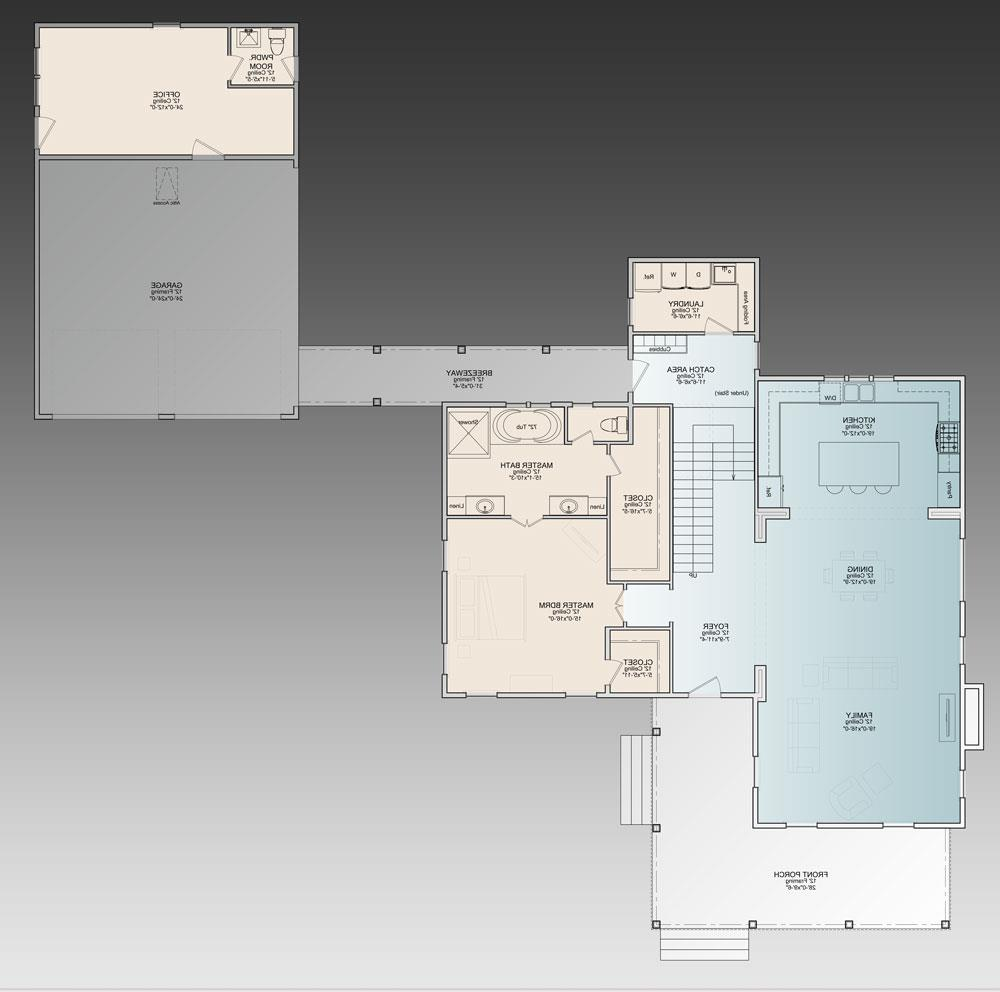 1st Floor Plan image of Featured House Plan: BHG - 9772