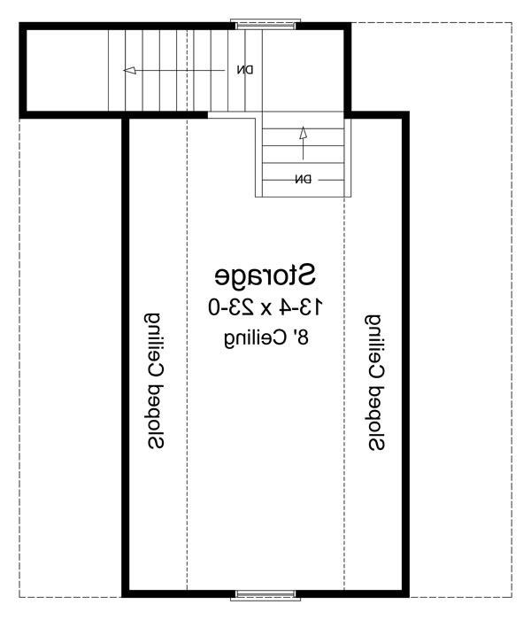 2nd Level Floorplan image of Featured House Plan: BHG - 6768