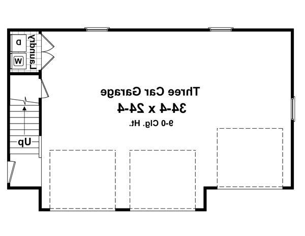 1st Level Floorplan image of Featured House Plan: BHG - 4204