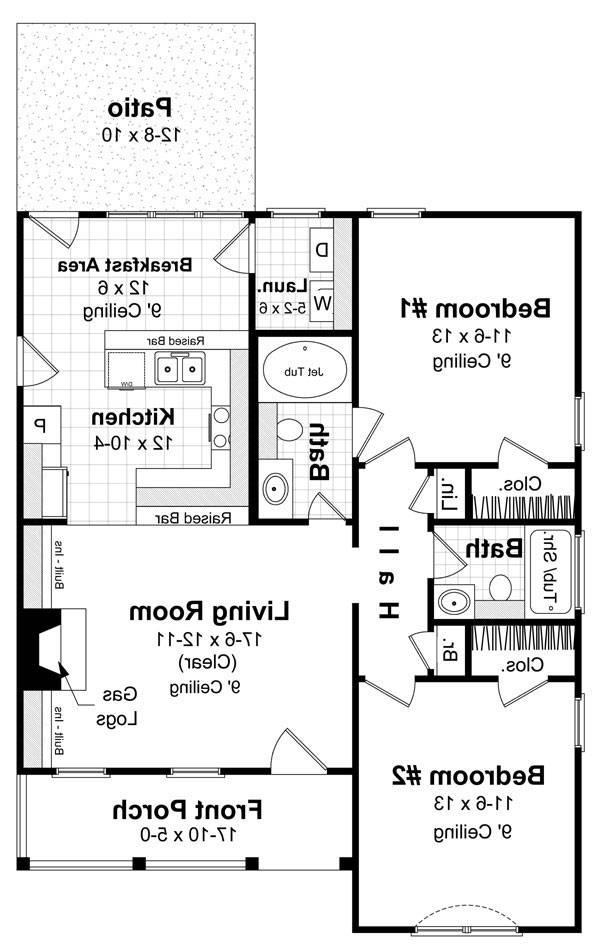 Floorplan image of Featured House Plan: BHG - 5860
