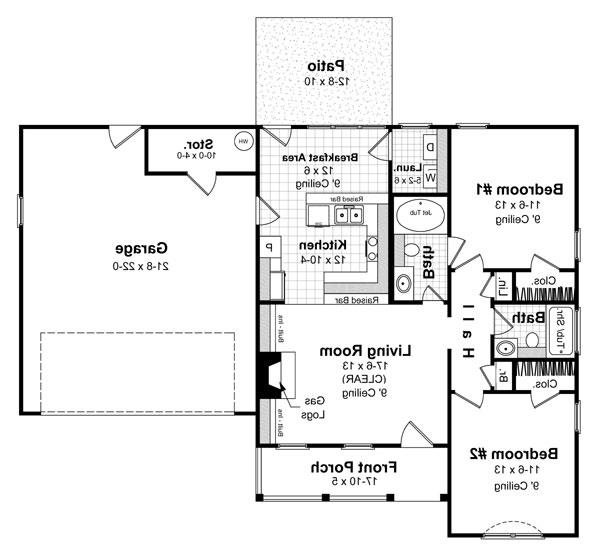 Floorplan image of Featured House Plan: BHG - 5862