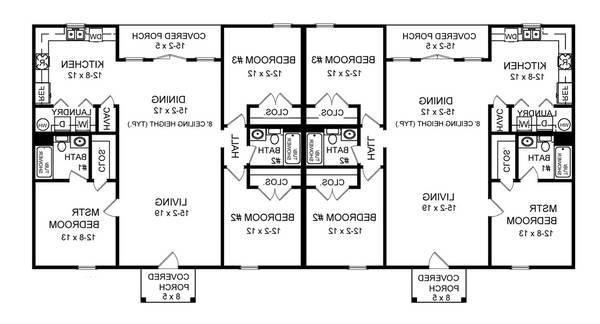 1st Level Floorplan image of Featured House Plan: BHG - 7085