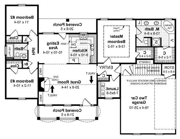 Floorplan image of Featured House Plan: BHG - 5692