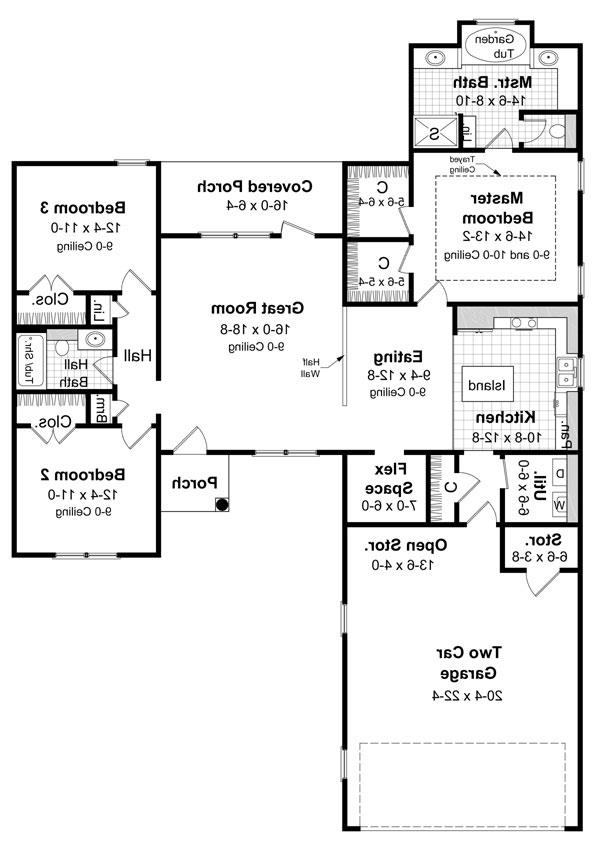 Floorplan image of Featured House Plan: BHG - 5870