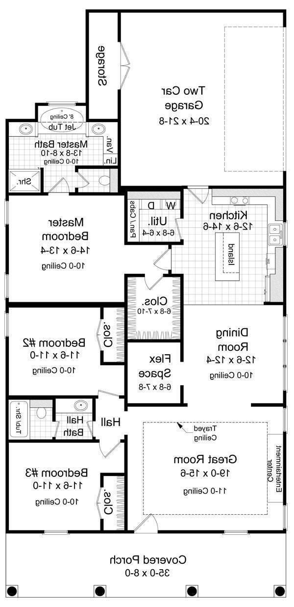 Floorplan image of Featured House Plan: BHG - 5873