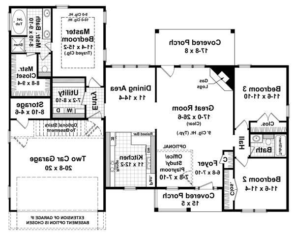 Floorplan image of Featured House Plan: BHG - 5754