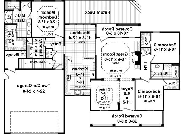 1st Level Floorplan image of Featured House Plan: BHG - 5271