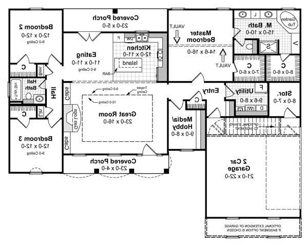 Floorplan image of Featured House Plan: BHG - 5696
