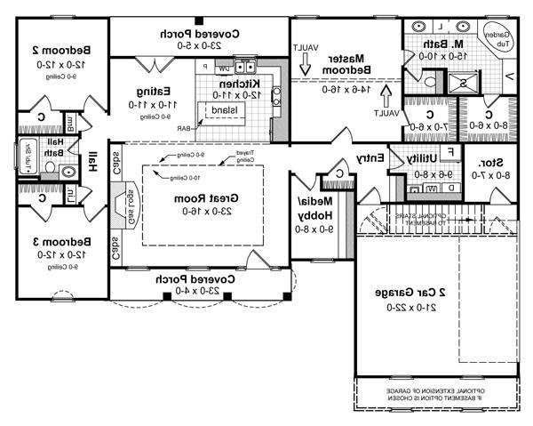 Floorplan image of Featured House Plan: BHG - 5690