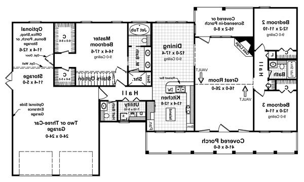 Floorplan image of Featured House Plan: BHG - 5747