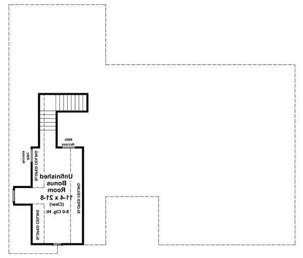 Bonus Room Floorplan image of Featured House Plan: BHG - 6262