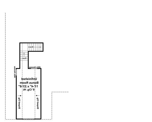Bonus Room Floorplan image of Featured House Plan: BHG - 7139