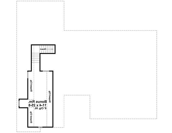 Bonus Room Floorplan image of Featured House Plan: BHG - 6671