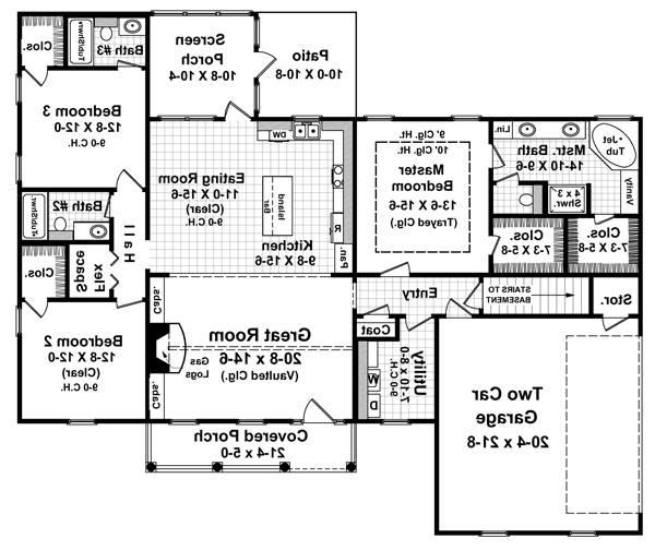 Floorplan image of Featured House Plan: BHG - 5756