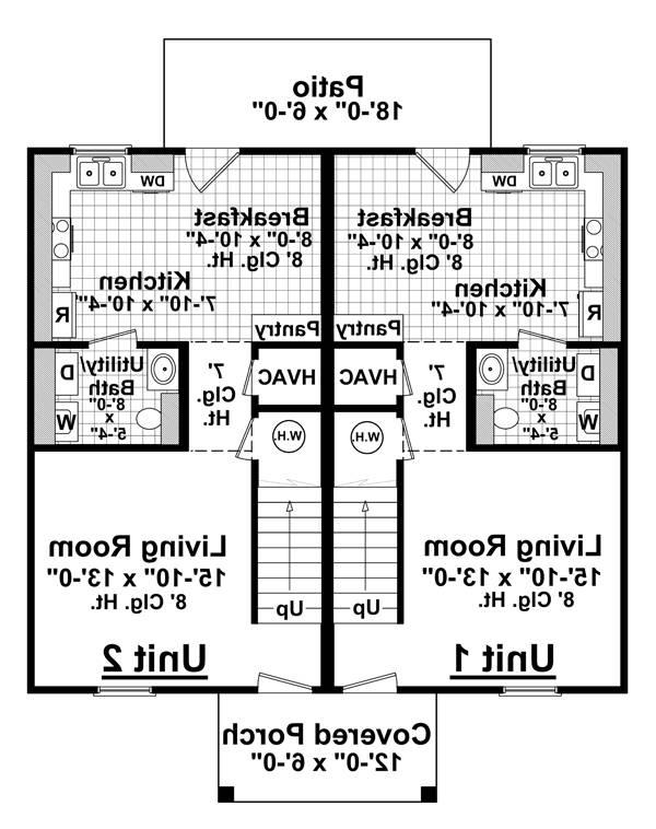 1st Level Floorplan image of Featured House Plan: BHG - 7129