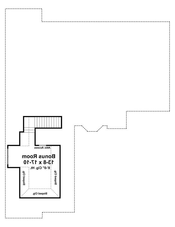 Bonus Room Floorplan image of Featured House Plan: BHG - 7027