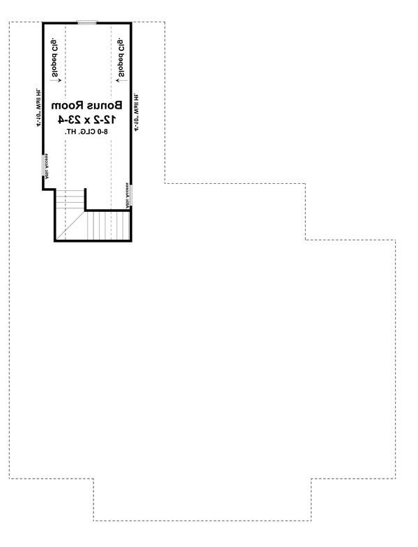 Bonus Room Floorplan image of Featured House Plan: BHG - 7642