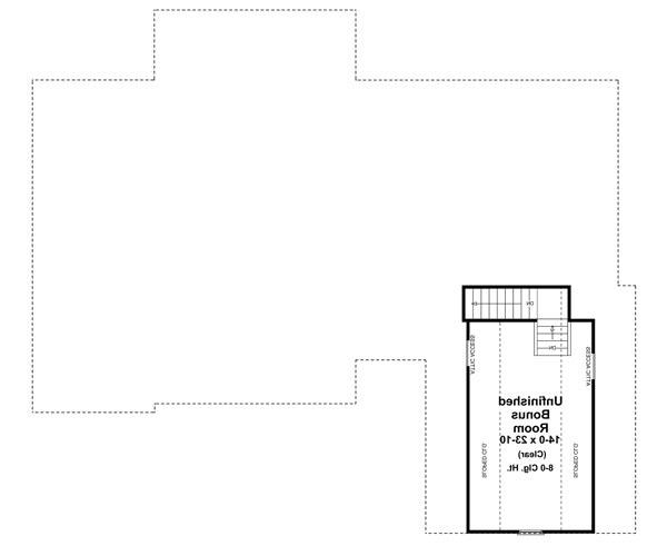 Bonus Room Floorplan image of Featured House Plan: BHG - 6569