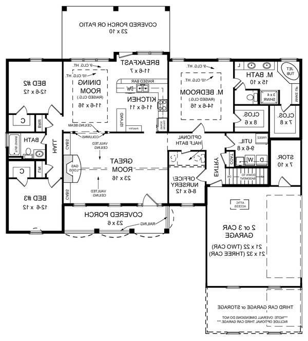Floorplan image of Featured House Plan: BHG - 5691