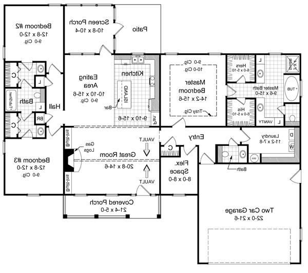 Floorplan image of Featured House Plan: BHG - 5744