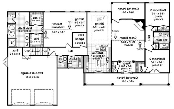 Floorplan image of Featured House Plan: BHG - 5741
