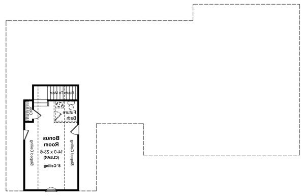 2nd Level Floorplan image of Featured House Plan: BHG - 5741