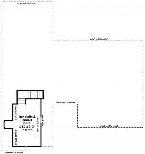 Bonus Room Floorplan image of Featured House Plan: BHG - 6263