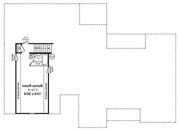 2nd Level Floorplan image of Featured House Plan: BHG - 5711