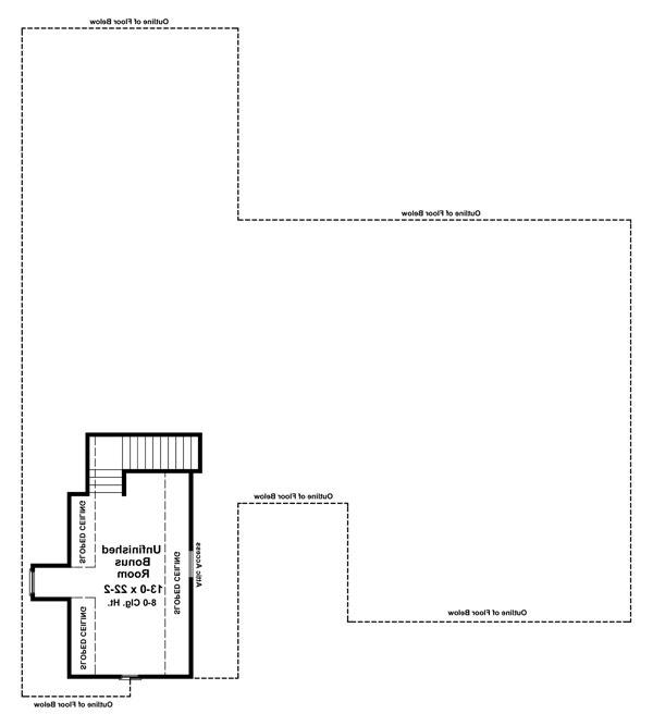 Bonus Room Floorplan image of Featured House Plan: BHG - 6673