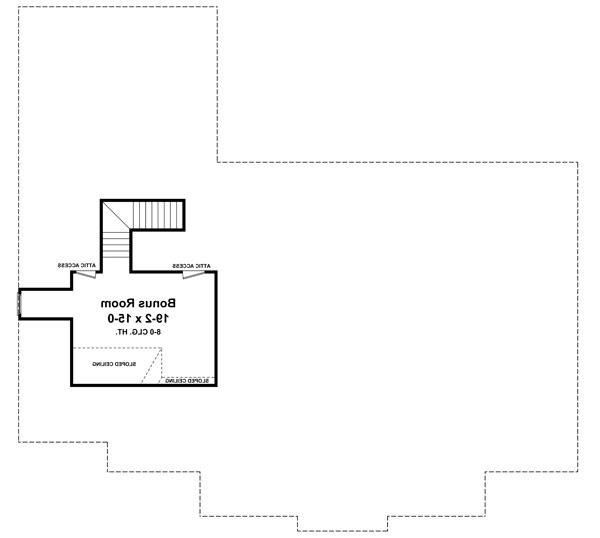 2nd Level Floorplan image of Featured House Plan: BHG - 7131
