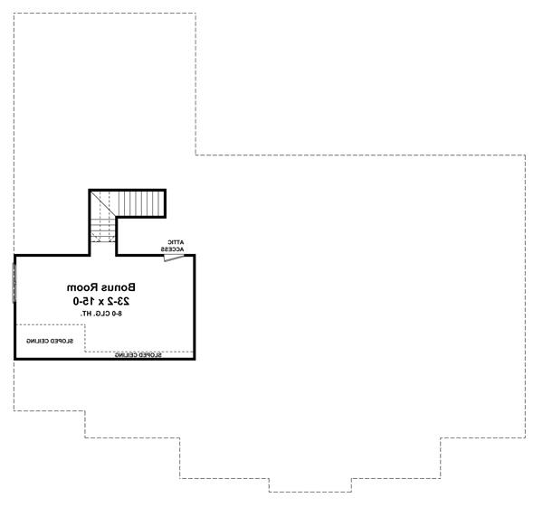 2nd Level Floorplan image of Featured House Plan: BHG - 7130