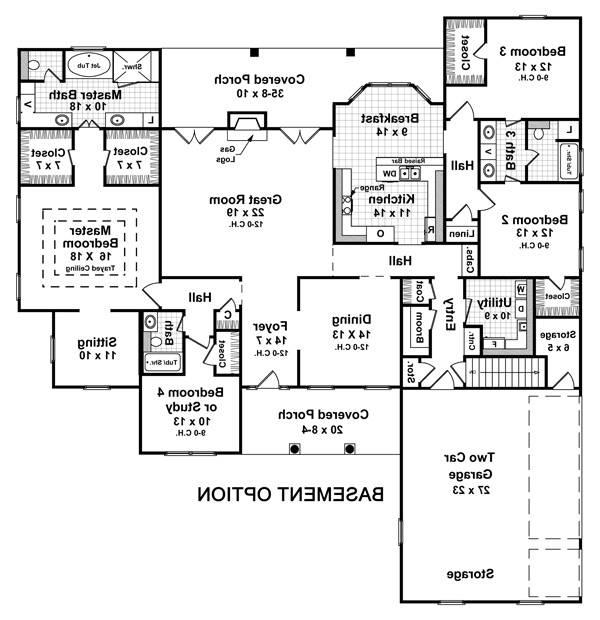 Basement Option Floorplan image of Featured House Plan: BHG - 5714