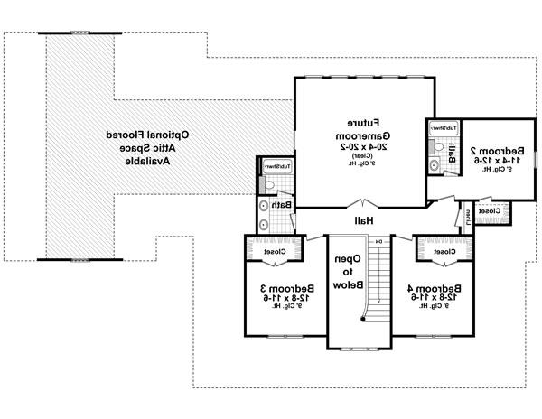 2nd Level Floorplan image of Featured House Plan: BHG - 7777