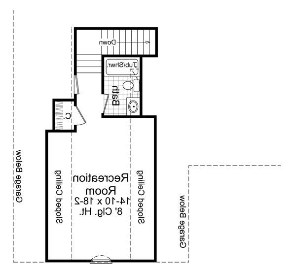 2nd Level Floorplan image of Featured House Plan: BHG - 6466