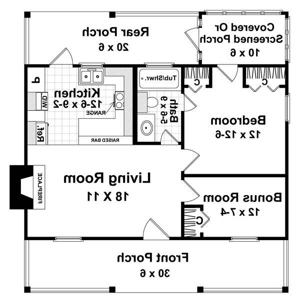 Floorplan image of Featured House Plan: BHG - 5713