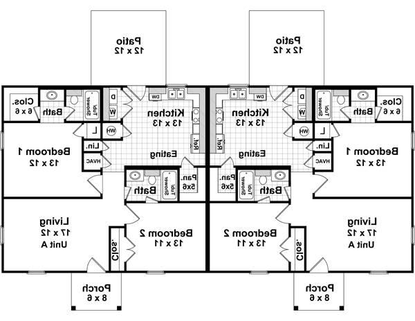 1st Level Floorplan image of Featured House Plan: BHG - 7080