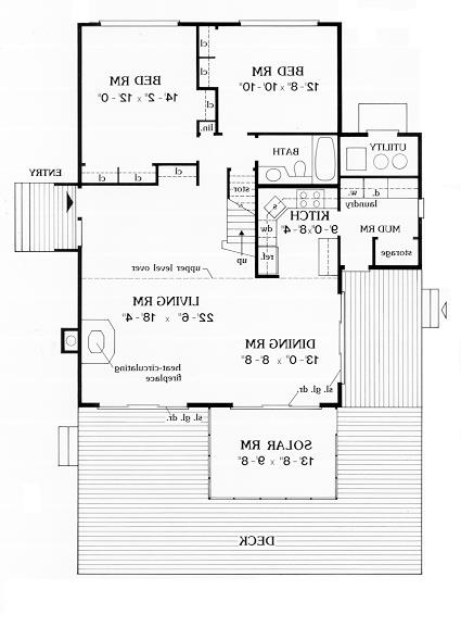 First Floor Plan image of Featured House Plan: BHG - 3871