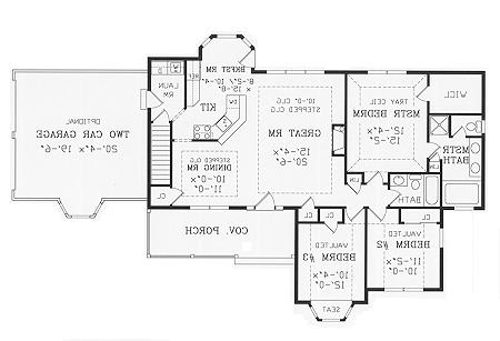 First Floor Plan image of Featured House Plan: BHG - 3843