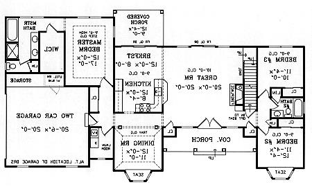 First Floor Plan image of Featured House Plan: BHG - 3844